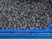 Blaubeeren an einem Landwirtmarkt Stockbild