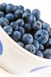 Blaubeeren in einem weißen Teller Lizenzfreies Stockbild