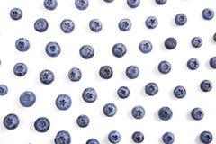 Blaubeeren lokalisierter Makroschuß Stockfotos