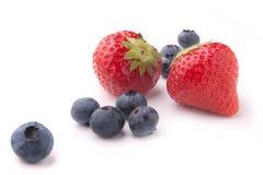 Blaubeeren und Erdbeeren Lizenzfreies Stockfoto