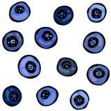 Blaubeergekritzel-Art-Vektor-Design, lokalisiert auf weißem Hintergrund Lizenzfreies Stockfoto