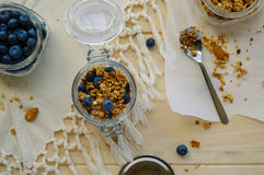 Blaubeergranola Stockfotos