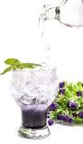 Blaubeeritalienisches Soda auf weißem Hintergrund Lizenzfreies Stockbild