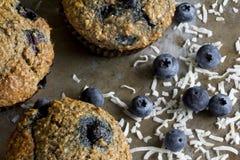 Blaubeerkleie-Muffins von oben Stockfotografie