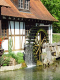 Blaubeuren Mill. This romantic old mill can be found at Blautopf pond near the ancient town of Ulm in the southern part of Germany Royalty Free Stock Photography