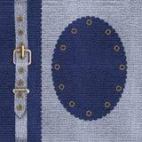 Blaue Abdeckung für ein Foto Album oder ein CD Stockfoto