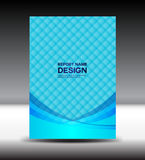 Blaue Abdeckungsdesign-Vektorillustration Stockfotos