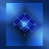 Blaue abstrakte Auslegung Stockbilder
