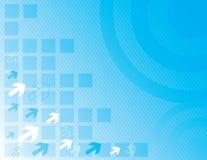 Blaue abstrakte Auslegung des Aqua Stockfotografie