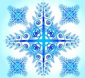 Blaue abstrakte Blume Stock Abbildung