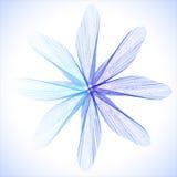 Blaue abstrakte Blume lizenzfreie abbildung