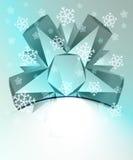 Blaue abstrakte Dreiecksymmetrie mit Schnee lizenzfreie abbildung