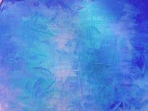 Blaue abstrakte gemalte Hintergrundwand lizenzfreie stockfotografie
