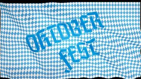 Blaue abstrakte geometrische Flagge Oktoberfest Oktober-Festival Deutschland-` s Oktoberfest Welt-` s größtes Weinfestival lizenzfreies stockfoto