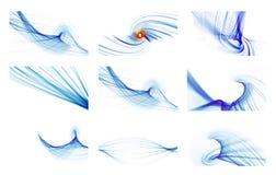 Blaue abstrakte Hintergrundcollage Stockfotografie