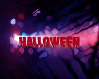 Blaue abstrakte Hintergrunddunkelheit Halloweens stockbilder