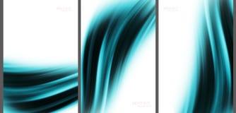Blaue abstrakte Hintergrundspitzentechnologiesammlung Lizenzfreies Stockfoto