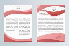 Blaue abstrakte Planschablone mit Quadraten Broschüren-Fliegerdesign Bedienungsfreundlich und bearbeiten Sie lizenzfreie abbildung