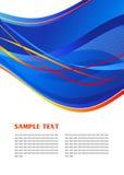 Blaue abstrakte Schablone Lizenzfreie Stockbilder