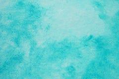 Blaue abstrakte Watercolourmalerei gemasert auf Weißbuchhintergrund lizenzfreie stockfotos