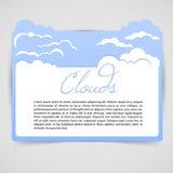 Blaue abstrakte Wolken vektor abbildung