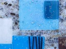 Blaue Abstraktion Stockfoto