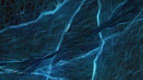 Blaue Abstraktion auf einem schwarzen Hintergrund Lizenzfreie Stockfotos