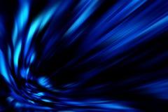 Blaue Abstraktion bewegt Hintergrundmuster wellenartig Stockbild