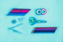 Blaue Abstufung von Kunstversorgungen Lizenzfreies Stockbild