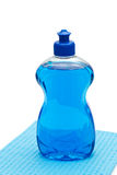 Blaue Abwaschflüssigkeit Lizenzfreie Stockfotografie