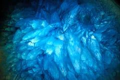 Blaue Achat cyrstals Lizenzfreie Stockfotos