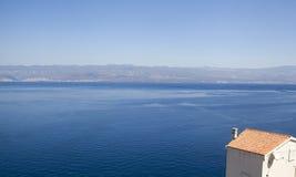 Blaue Adria sehen Stockbild