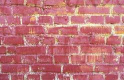 Blaue alte Backsteinmauer mit Farbe, Hintergrundbeschaffenheit Retro- Stockbilder