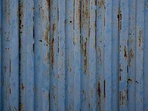 Blaue alte Blechtafelbeschaffenheit Stockfoto
