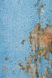 Blaue alte Farbe auf einer Holzoberfläche Stockfoto