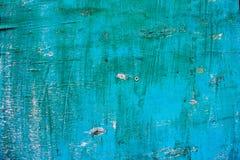 Blaue alte gemalte hölzerne Beschaffenheit Stockbild