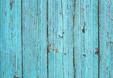 Blaue alte gemalte hölzerne Plankenbeschaffenheit Stockbild