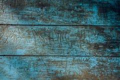 Blaue alte hölzerne Wand Beschaffenheit Stockbilder