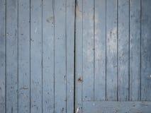 Blaue alte Holztürbeschaffenheit Lizenzfreie Stockfotografie