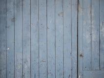 Blaue alte Holztürbeschaffenheit Lizenzfreie Stockbilder