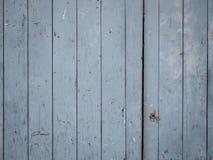 Blaue alte Holztürbeschaffenheit Lizenzfreies Stockbild