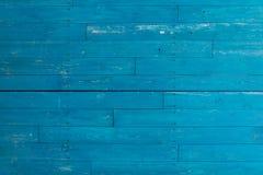 Blaue alte rustikale hölzerne Planken Stockfotografie