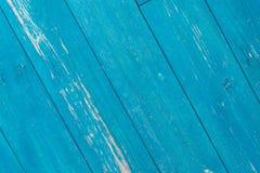 Blaue alte rustikale hölzerne Planken der Nahaufnahmebeschaffenheit Lizenzfreies Stockfoto