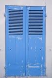 Blaue alte Tür Stockfotografie