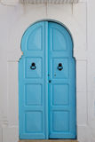 Blaue alte Tür Lizenzfreies Stockfoto