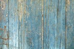 Blaue alte Zerfallholztür Lizenzfreies Stockfoto