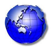 Blaue Anschlagwelt Lizenzfreies Stockbild