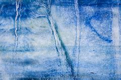 Blaue Aquarellhand gezeichnet f?r Textentwurf, Netz Abstraktes kaltes B?rstenfarbenpapier-Korngef?geelement f?r Tapete, Aufkleber vektor abbildung