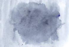 Blaue Aquarellillustration, Hand gezeichnetes Bild Azurblaues Spritzen te Stockfotografie