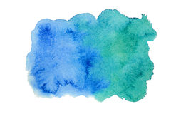 Blaue Aquarellstelle Stockbilder